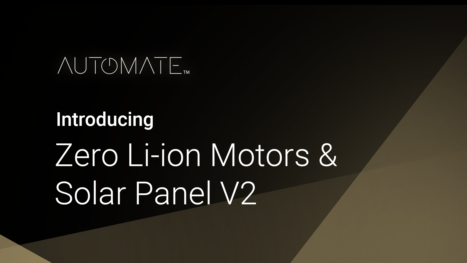 Automate Zero Li-Ion Motor Overview